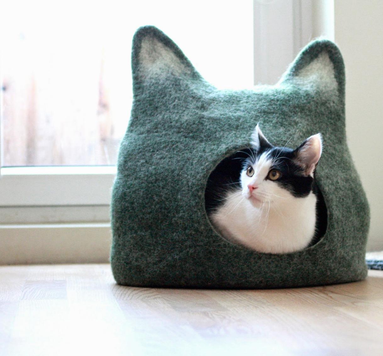 panier pour chat 10 id es de cadeaux insolites pour. Black Bedroom Furniture Sets. Home Design Ideas