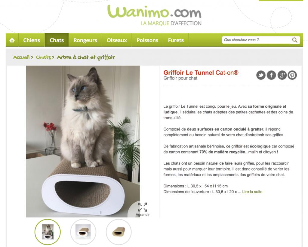griffoir pour chat grattoir cat-on
