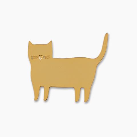 bijou chat en métal